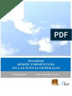 Kutxabank. SESION TORMENTOSA EN LAS JUNTAS GENERALES