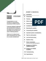 Force Class d Manual f5000d f3600d f2600d