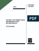 Proteinas en Leche 0370-1997