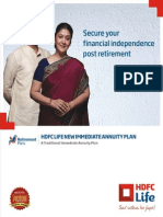 Hdfclife New Immediate Annuity Plan