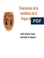 Clemente Linuesa - Dimensiones de La Enseñanza de La Lengua Escrita