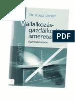 Dr. Roóz József-Vállalkozásgazdálkodási Ismeretek