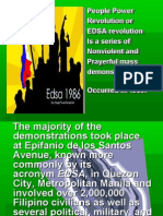 People Power revolution of the philippines (EDSA Revolution)