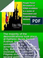 People Power revolution of the philippines (EDSA Revolution)