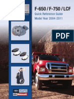 Ford F650 F750 & LCF 2004-2011 Quick Reference Guide