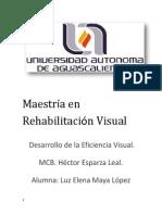 Desarrollo de La Eficiencia Visual. Luz Elena Maya López.