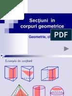 Secțiuni în corpuri geometrice