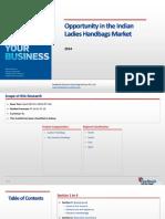 Opportunity in the Indian Ladies Handbags Market_Feedback OTS_2014