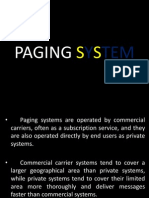 Paging System