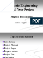 Electronic Engineering Final Year Project Progress2