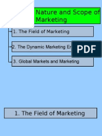 Module 1 - Nature and Scope of Marketing