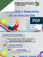 Evaluacion y Principios