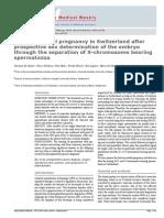 Separation of x and y Chromosome Spermatozoa for Implantation