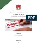 Elementos Claves en La Estructura de Los Convenios de Confidencialidad