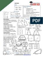ACT Math Formulas Interactive