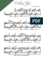 I Need You - Adrian Von Ziegler - Sheet Music
