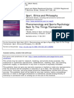 Phenomenology and Sport Psychology