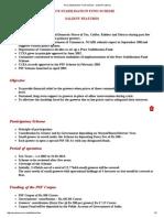 Price Stabilisation Fund Scheme - Salient Features