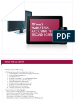 10 Ways Marketers Are Using the Second Screen - JWT