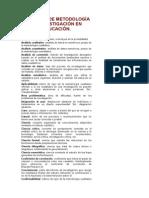 Glosario de Metodología de Investigación en Educación