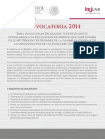 Convocatoria Delegados Juveniles 2014