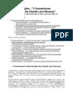MANIGLIER, Patrice. L'Humanisme Interminable de Claude Lévi-Strauss.