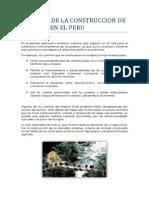 Historia de La Construccion en El Peru