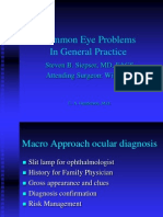 Common Eye Problems and Diagnosis