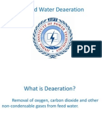 Feed Water Deaeration in Thermal Power Plant