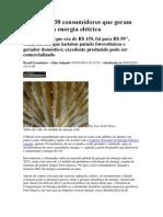 395748-Brasil Tem 38 Consumidores Que Geram Sua Própria Energia Elétrica