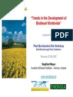 Trends in the Development of Biodiesel Worldwide