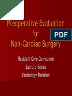 Pre-op Eval for Non-cardiac Surgery
