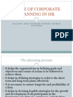 Scope of Corporate Planning in Hr