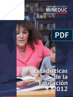 Estadisticas de La Educacion 2012