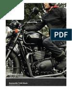 Bonneville T100 Black Catálogo