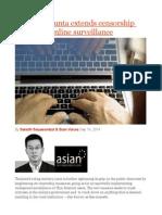 Thailand's Junta Extends Censorship With Mass Online Surveillance