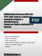 NORMA Oficial Mexicana NOM-026-STPS-2008, Colores y Señales