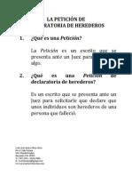 La Peticion Declaratoria Herederos en Puerto Rico