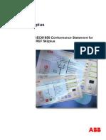 REF542plus IEC61850 ConfStatement 756361 ENd Rel3.0SP1