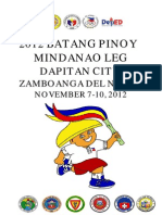 2012 Batang Pinoy Mindanao Leg Results Compilation for LGUS