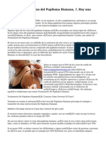 Tratamiento del virus del Papiloma Humano, ?, Hay una Solución?