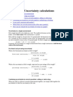 Examples of Uncertainty Calculations
