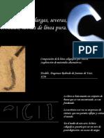 Letras Largas, Severas, Verticales, Hechas de línea Pura.