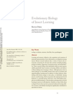 Evolutionary Biology of Insect Learning