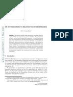 An Introdution to Relativistic Hydrodynamics