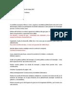 Acuerdos Básicos Para El Plan de Trabajo 2014