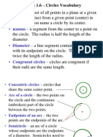 Circle Vocabulary