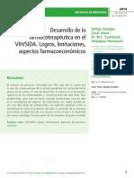 Desarrollo de la farmacoterapéutica en el VIH/SIDA. Logros, limitaciones, aspectos farmacoeconómicos