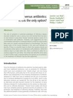 Probiotics versus antibiotics