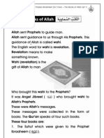 Grade 1 Islamic Studies - Worksheet 2.4.1 Iman - The Books of Allah (Pt 1)